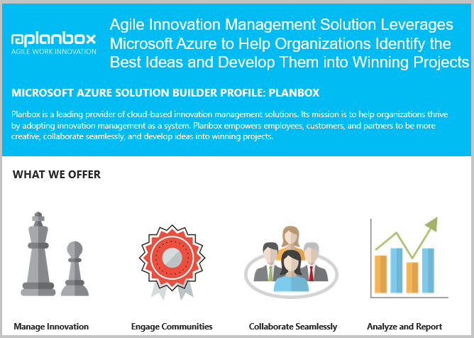 Planbox Microsoft Azure Innovation Management as a Service